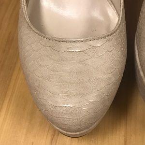 Aldo Shoes - ALDO Nude light beige Snake skin pumps-size 9
